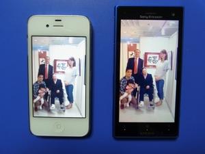 iphone4sとドコモのスマホ.JPG