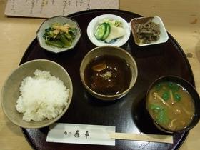 煮込みビーフのあんかけ定食.JPG